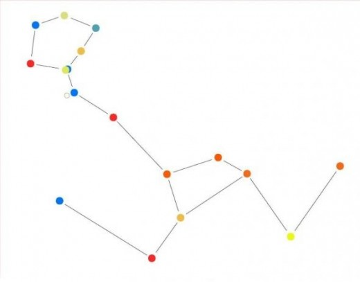 Cetus constellation outline