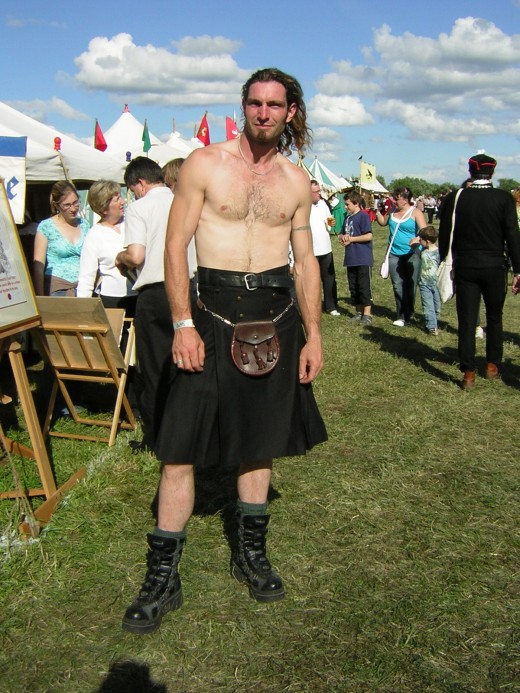 And you can bet that he wears his kilt in the traditional fassion.  Au Natural.
