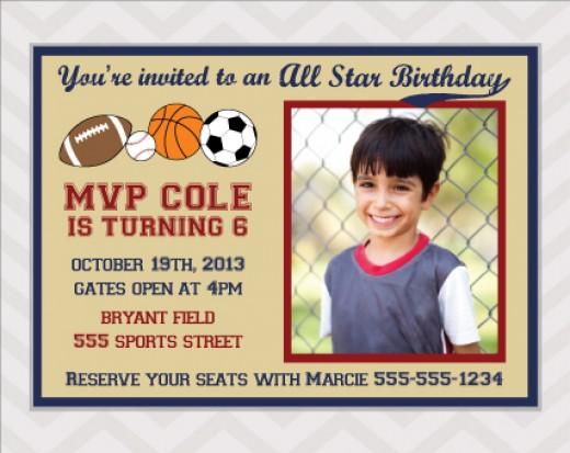 All Star Birthday Invitation