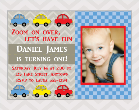 Cute Cars Birthday Party