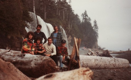Our group of hikers at Tsusiat Falls, in 1985