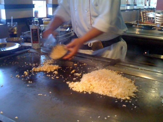 Hibachi at a Teppanyaki Table