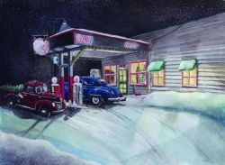 Times Past GasStation by Rick Huotari