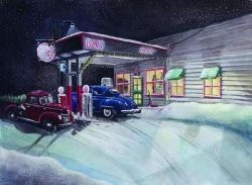 Times Past GasStation by Rick Huotari