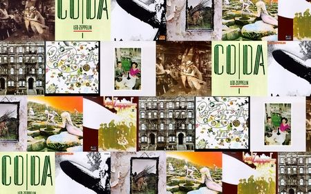 Led Zeppelin albums collage