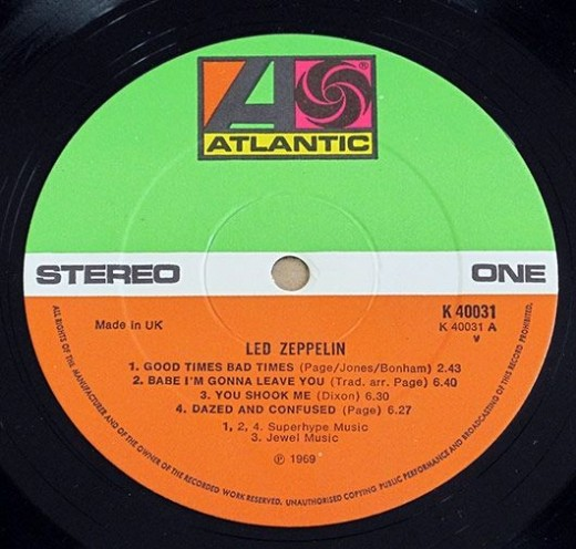 Led Zeppelin I vinyl record