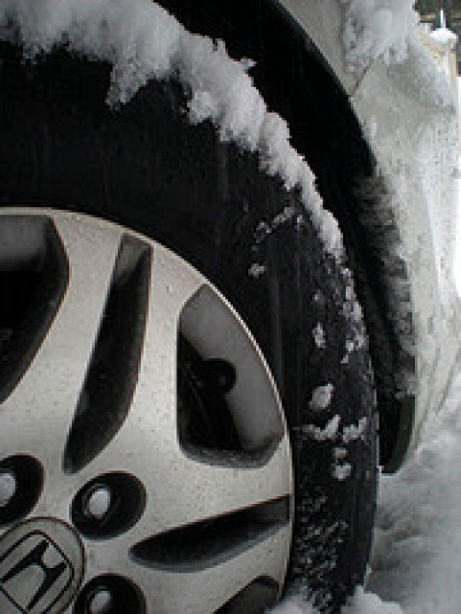 Snow Car Tire (Photo courtesy by hershey_kiiss from Flickr)