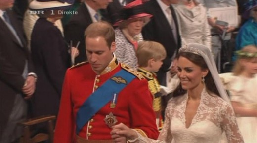 Princess Kate and Prince William at Westminister Abby on their Wedding Day.