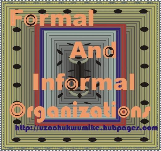 Image illustrating organizational types. Formal and informal organizations