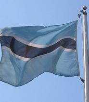 Flag of Botswana.