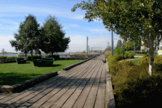 At the end of Steveston Road in Richmond BC is an ideal spot for beautiful walks by the Pacific Ocean or have dinner at one of the restaurants in the surrounding area