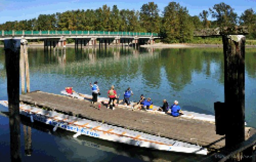 Canoeing and kayaking in Langley