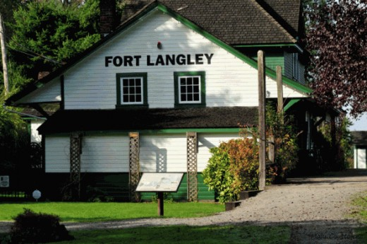 The old train station at Fort Langley. A beautiful building built in 1915