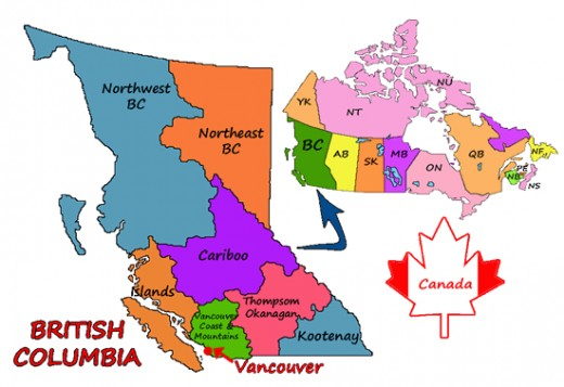 Vancouver and British Columbia Map Design Malu Couttolenc