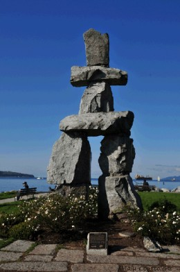 "The Inukshuk (Inuit Language) is a world famous symbol and landmark. The word means ""Friend"""