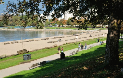 English Bay is a beautiful area to go for a walk and other outdoor activities