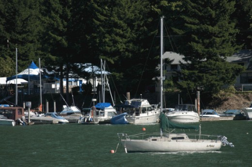 At Harrison Hot Springs boating activities are very popular