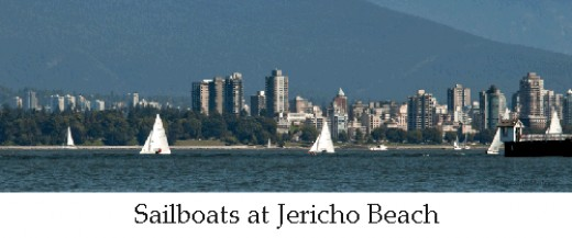 Sailboat Jericho Beach Vancouver photo Malu Couttolenc