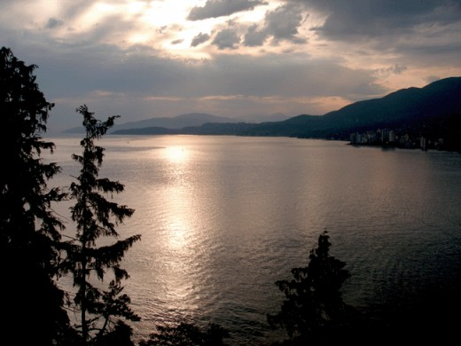 "Sunset at ""Prospect Point Lookout"" at Stanley Park"