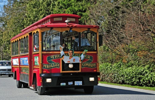 Stanley Park has several parking lots but you can also take the park bus or horse pulled carriages