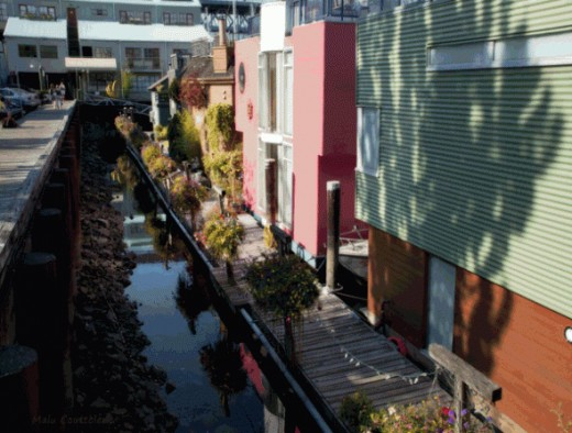 Colorful houses at Granville Island