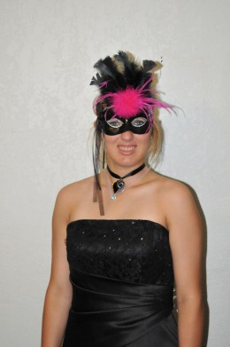 My daughter having fun with the Masquerade Theme Party