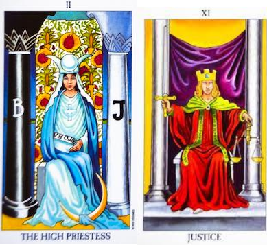 The High Priestess and Justice