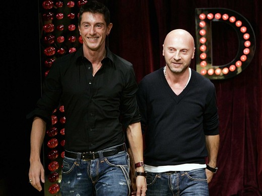 Domenico Dolce and Stefano Gabana. Top Fashion Designers
