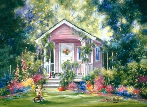 Little Pink Playhouse by Marty Bell