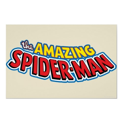 The Amazing Spiderman logo poster