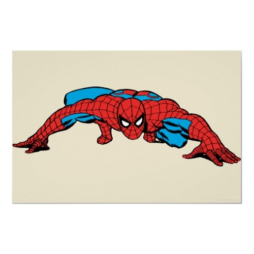 Spiderman Retro Crouch