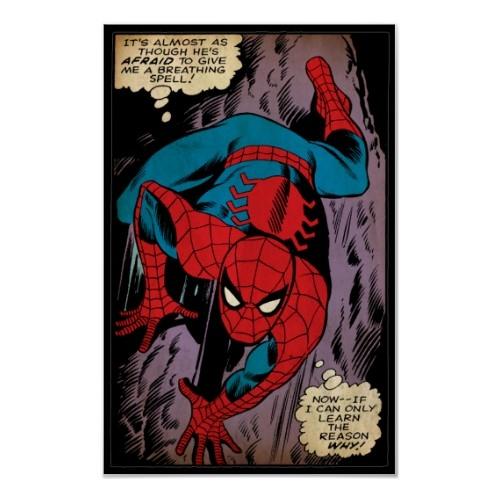 spiderman comic slide poster
