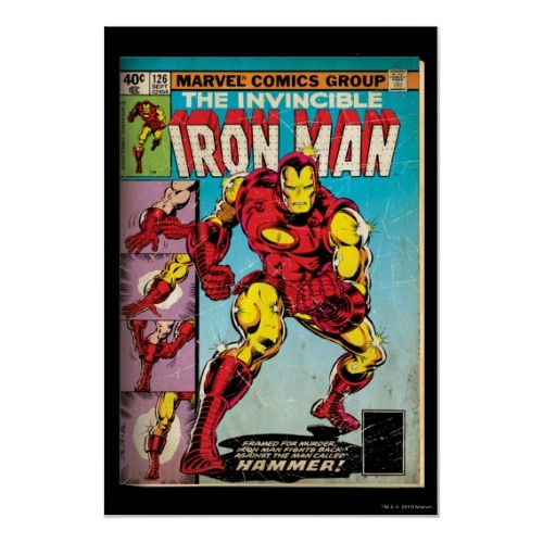 Iron Man #126 Cover Art Poster