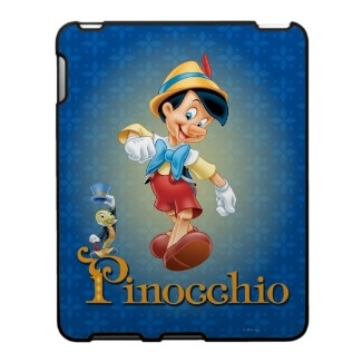 Pinocchio and Jiminy Cricket iPad Case