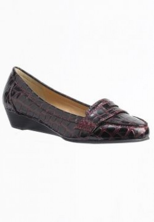 1940's Reptile Low Wedge Shoes