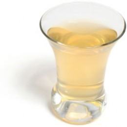 A glass of cider vinegar tonic ... hold your nose.