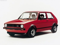 Red Volkswagen Golf GTI mark Mk I