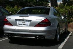 Steve Jobs Mercedes SL55 AMG no plates