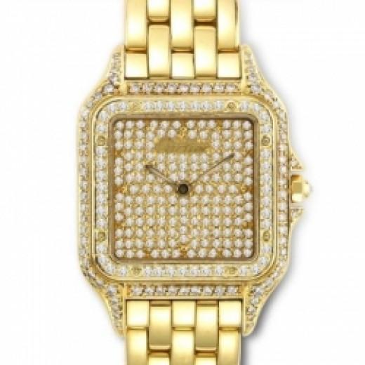 Diamond Studded Cartier Cougar Watch
