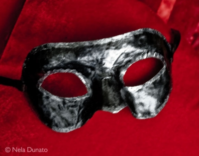 Simple Venetian mask painted with acrylic
