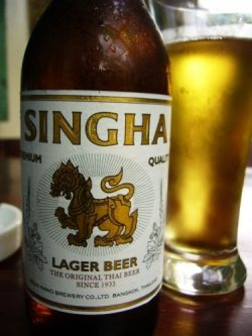 Ice Cold Singha Beer