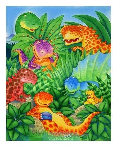 Dinosaur Friends Poster from Zazzle
