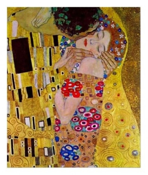 The Kiss by Gustav Klimt, Vintage Art Nouveau Poster from Zazzle