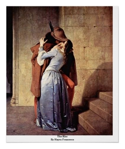The Kiss By Hayez Francesco Print from Zazzle