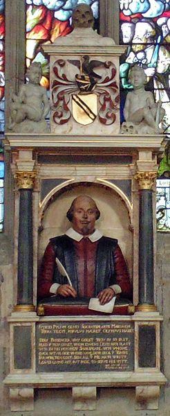 Funerary monument to William Shakespeare