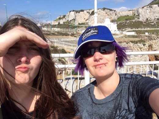 Me and Julie at Europa Point.