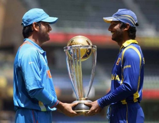 Two captains holding the cup...!