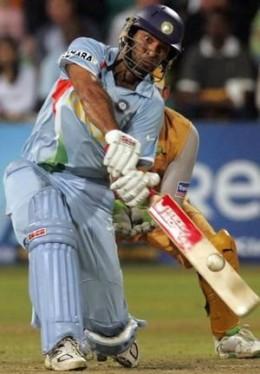 Yuvraj Singh is too aggressive with his bat...!