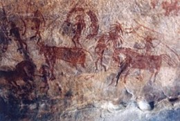 Bhimbetka, Rock Art In Mesolithic Period (India)