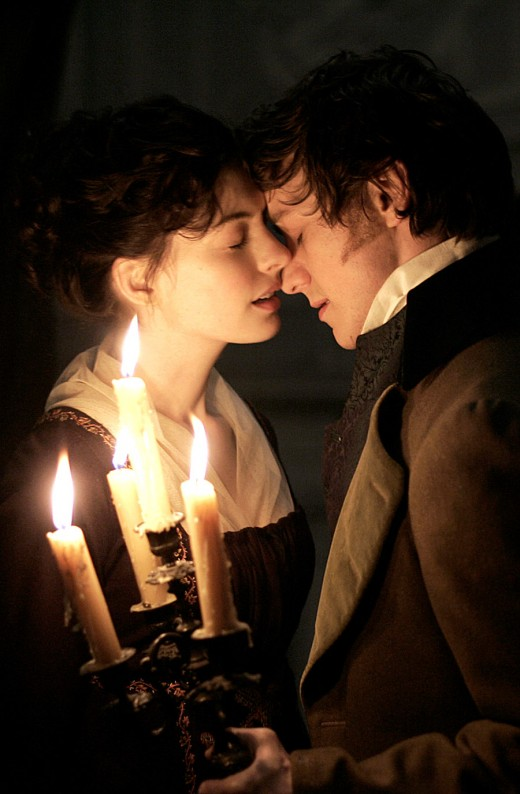James McAvoy and Anne Hathaway in Becoming Jane.